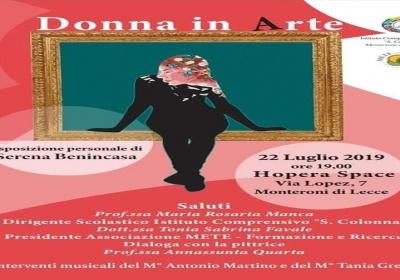 Mostra, ''Donna in Arte'': a Monteroni serata-evento con le opere di Serena Benincasa