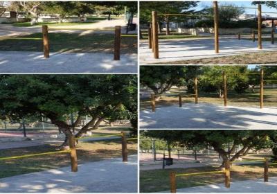 Parco Belloluogo: taglio del nastro per la palestra all'aperto